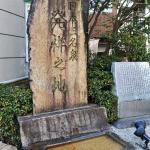 白鷺の湯の目の前にある下呂温泉発祥の石碑