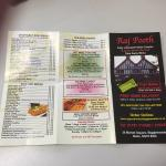 Take Away Menu Side 1