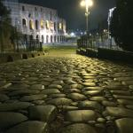Original road between the Coloseum and the Forum