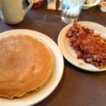 Macedon Hills Restaurant - pancakes with corned beef hash