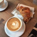 Latte and Croissant what is not to love!