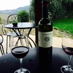 Wonderful Italian Red and what a view