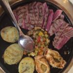 Tagliata di manzo e verdure