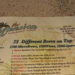 The menu of beer!