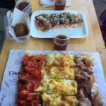 Pizzas succulentes et pour tous les goûts ! Le serveur parle français, pratique pour nous expliq