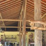 Dentro do restaurante.