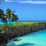 Jetty over the turquoise lagoon Amoa Resort Savaii