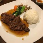 Teriyaki beef dinner
