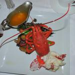 Beautiful lobster -- appetizer and dessert even better