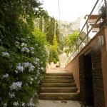 Treppen zu den Apartments