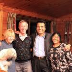 Owners Jenny & Bruce with Debashish & Shakuntala