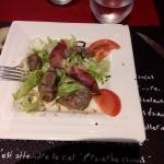 salade foie frais et magret