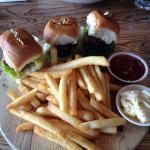 lamb sliders & fries