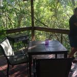 Deck and leafy views (feat. handsome hubby)