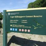 Cliff top walk sign
