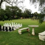 Abbey of the Roses outdoor chess set