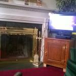fireplace, tv...