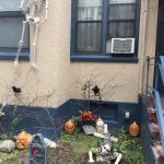 Decoración del patio en Halloween