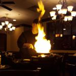 flaming the bananas foster