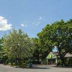 Reception and car park