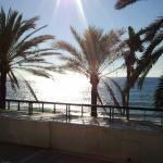 Blick vom Lokal aufs Meer