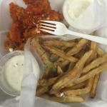 spicy chicken and fries