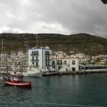 View across the harbour to the hotel