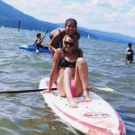 Rented Paddle Boards with Family