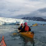 Kayaking in front of Nordenskôld glacier