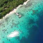 Aerial shot of Tranquility Island Eco Dive Resort