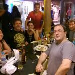 Eu, minha esposa e amigos no Berlin, no Beco das Cores em Arraial d'Ajuda