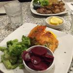 Stuffed Salmon and Lamb entrees
