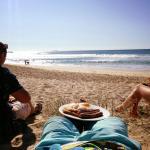 Brekfast on the beach