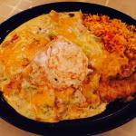 Enchiladas with green chilies - amazing!