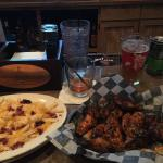 Wings and loaded fries...very good!!