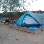 raised tent site
