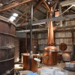 Beautiful copper brandy vat at Chateau Mildura winery/museum