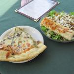 Sunny Side Cafe pizza and Walnut Pear salad