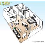 One Bedroom Suite - floor plan
