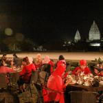 Dinner with the view of Prambanan Temple