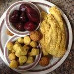 Catfish, fried okra, pickled beets