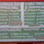 menu board with additions