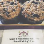 Lemon & Wild Maine Blueberry Bread Pudding