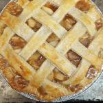 Apple pie using local apples and lattice top