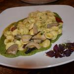 orecchiette with cardoncelli mushroom and asparagus sauce