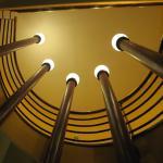 Hotel Pilvax -éclairage escalier (sécession)