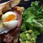 Bacon & Egg Stack with added avocado