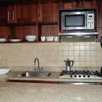 1 and 2 bedroom cooking area, fully equipped kitchen