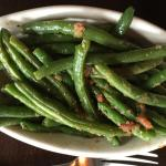 Green beans done in bacon grease - yum!