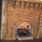 Fireplace at Firestick Cafe